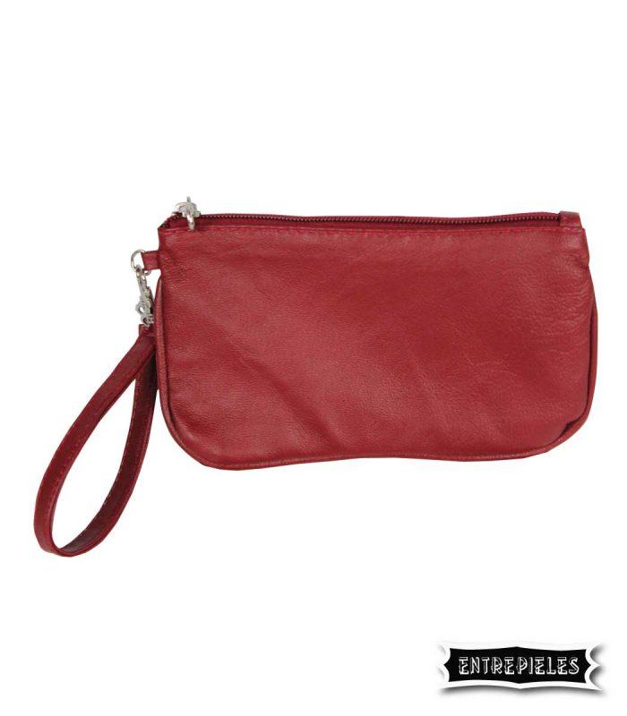 Bolso auxiliar de mano rojo
