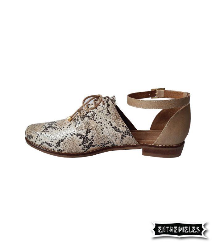 Zapatos en cuero print